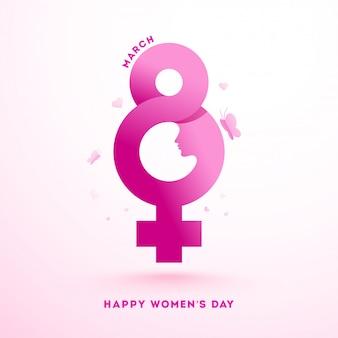 Conceito do dia internacional da mulher.
