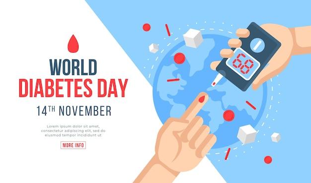 Conceito do dia mundial da diabetes