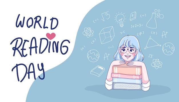 Conceito do dia mundial da leitura