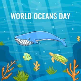 Conceito do dia mundial do oceano