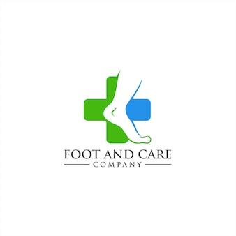 Conceito do logo foot care