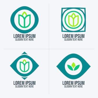 Conceito do logotipo da planta