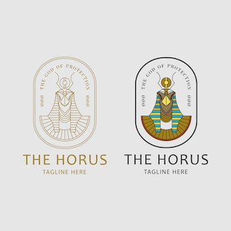 Conceito do logotipo de horus