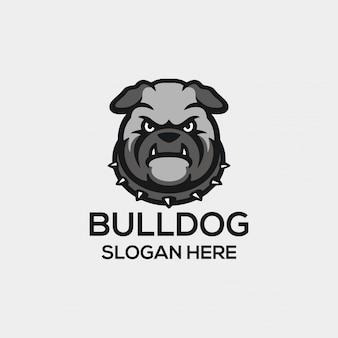 Conceito do logotipo do bulldog