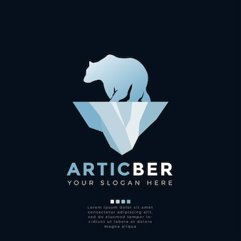 Conceito do logotipo do urso do ártico