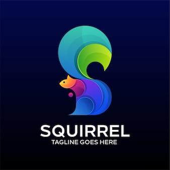 Conceito do logotipo squirell