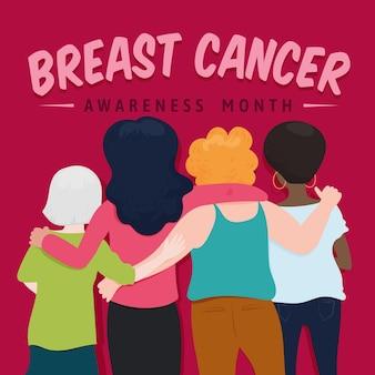 Conceito do mês de conscientização do câncer de mama