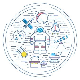 Conceito do universo espacial