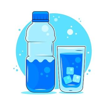 Conceito dos benefícios da água potável. Vetor Premium