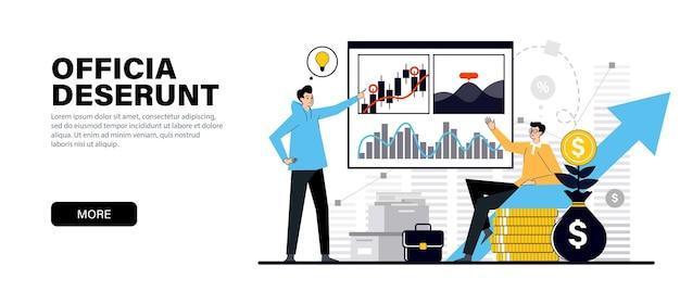 Conceito em cores pretas planas modernas sobre o tema aumento de capital de investimentos