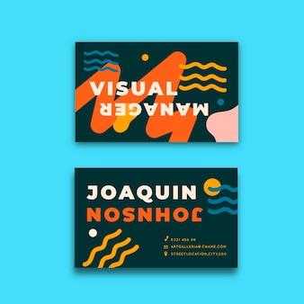 Conceito engraçado para cartão de visita de designer
