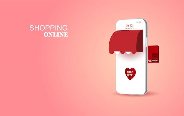 Conceito especial de temporada de amor dos namorados smartphone