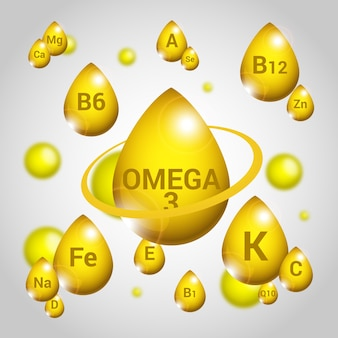 Conceito essencial de vitaminas e minerais