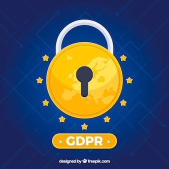 Conceito europeu de gdpr com design plano