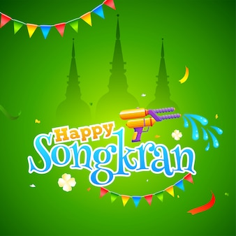 Conceito festival songkran.