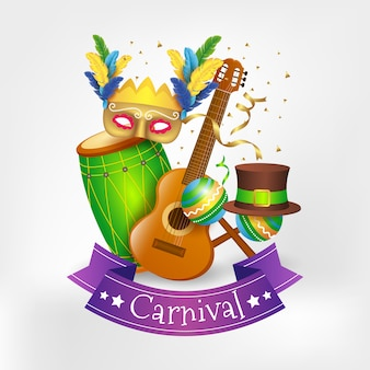 Conceito festivo de carnaval realista