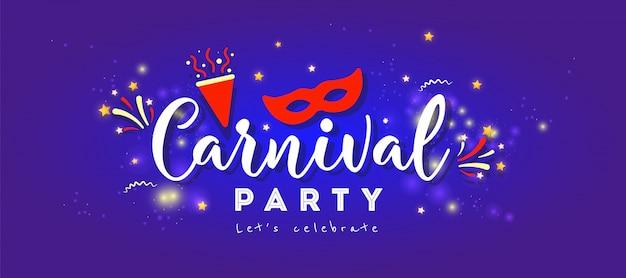 Conceito festivo feliz carnaval com máscara