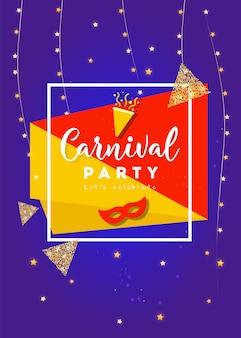 Conceito festivo feliz carnaval