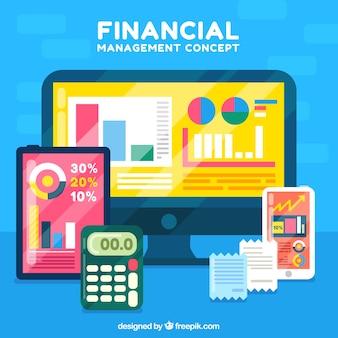 Conceito financeiro com tecnologia