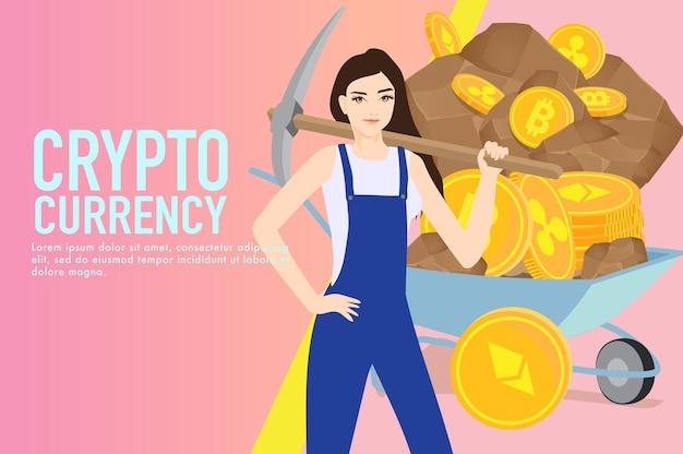 Conceito financeiro de criptomoeda