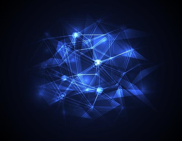Conceito futurista abstrato da tecnologia digital da molécula.