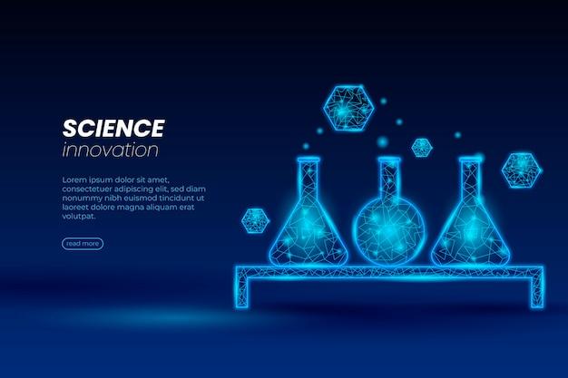 Conceito futurista do papel de parede do laboratório de ciências