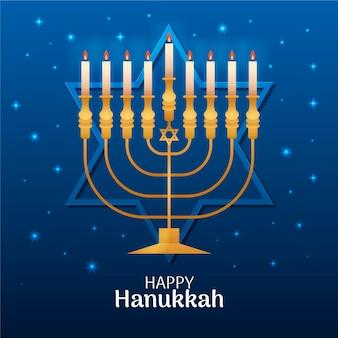 Conceito golden hanukkah