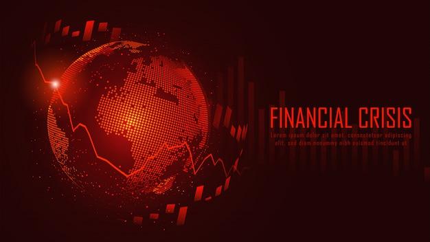 Conceito gráfico de crise financeira