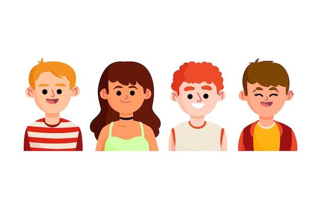 Conceito ilustrado de jovens