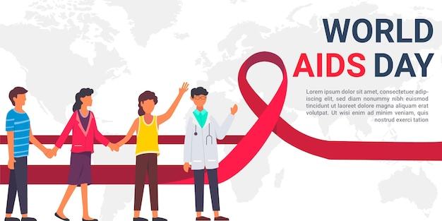Conceito ilustrado do dia mundial da aids
