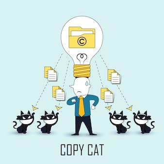 Conceito imitador: dados sejam roubados por outros no estilo de linha