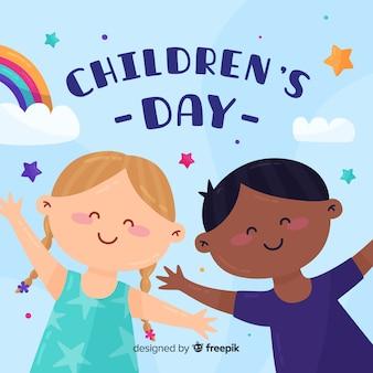Conceito internacional do dia das crianças para ilustração