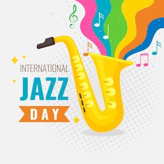 Conceito internacional do evento do dia do jazz