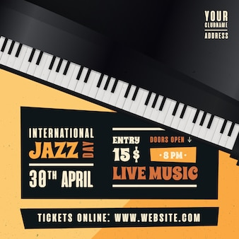 Conceito internacional realista do dia do jazz