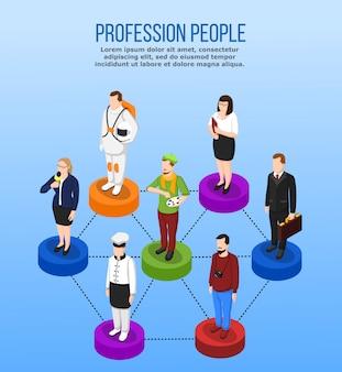 Conceito isométrico da ocupação profissional