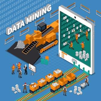 Conceito isométrico de mineração de dados
