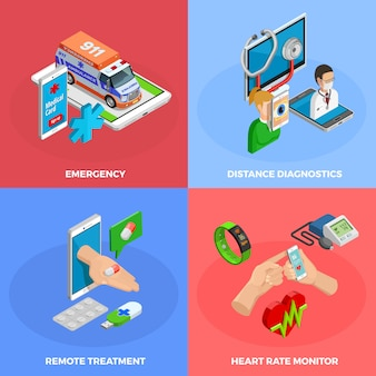 Conceito isométrico de saúde digital