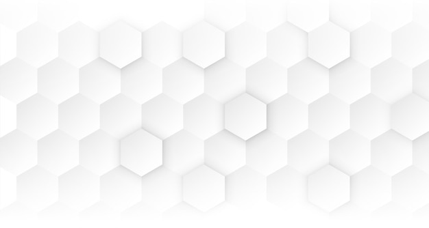 Conceito médico hexagonal branco limpo