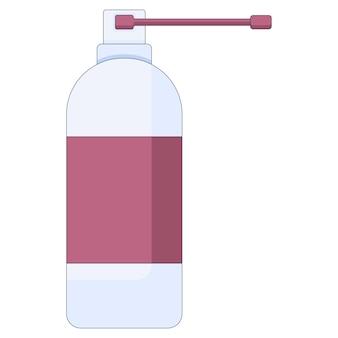 Conceito médico sprays para a garganta para resfriados, gripe, tosse, remédio para a garganta, sprays em um estilo simples