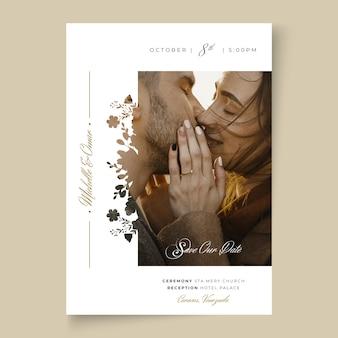 Conceito mínimo de cartão de casamento