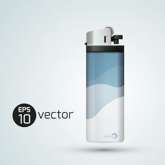 Conceito moderno de isqueiro de plástico