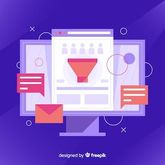 Conceito moderno de marketing por e-mail