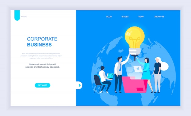 Conceito moderno design plano de negócios corporativos