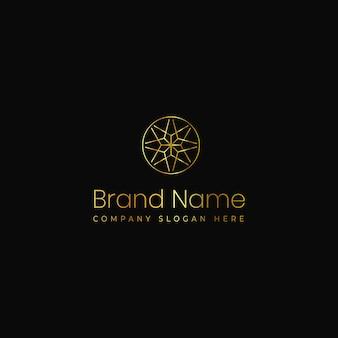 Conceito moderno exclusivo elegante de logotipo de mandala adequado para joias e beleza spa