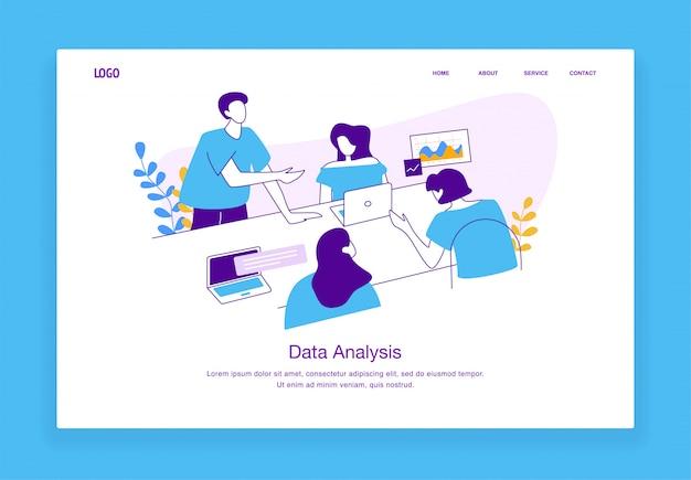 Conceito moderno ilustração personalizada de homem e mulher trabalhando juntos como uma equipe para o site e site móvel. modelo de página de destino