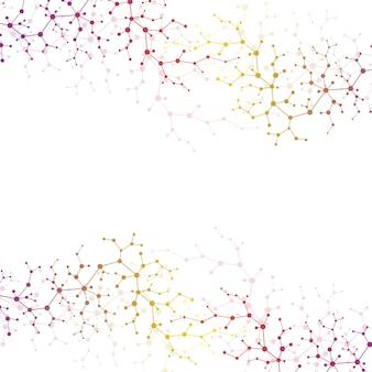 Conceito molecular de neurônios e sistema nervoso. pesquisa médica científica. estrutura da molécula com partículas. molécula de fundo de ciência e tecnologia para banner ou panfleto. ilustração vetorial.