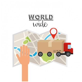 Conceito mundial logístico