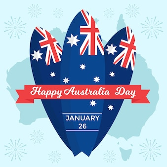 Conceito nacional do tema do dia da austrália