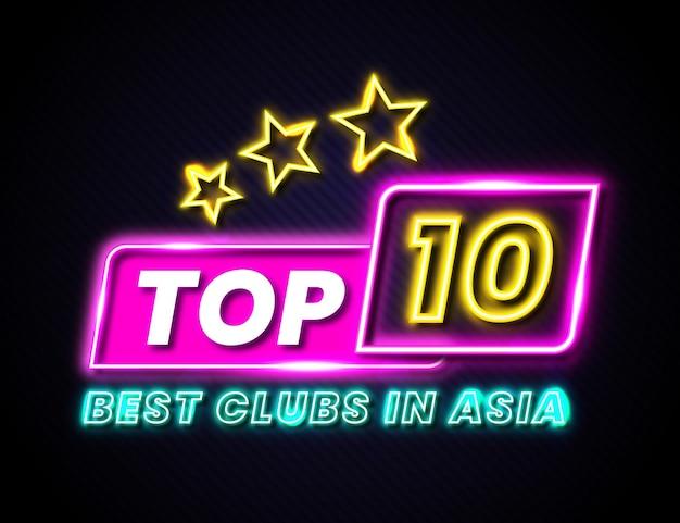 Conceito neon top 10