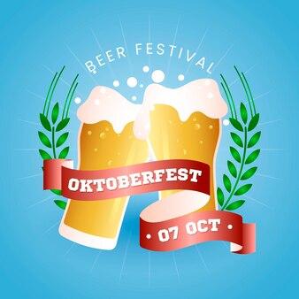 Conceito oktoberfest com cor gradiente